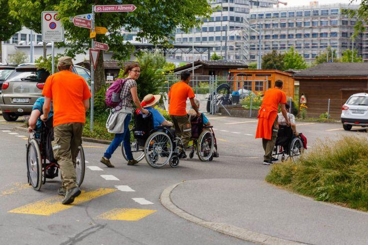 Einsatz für den Blinden-Fürsorge-Verein