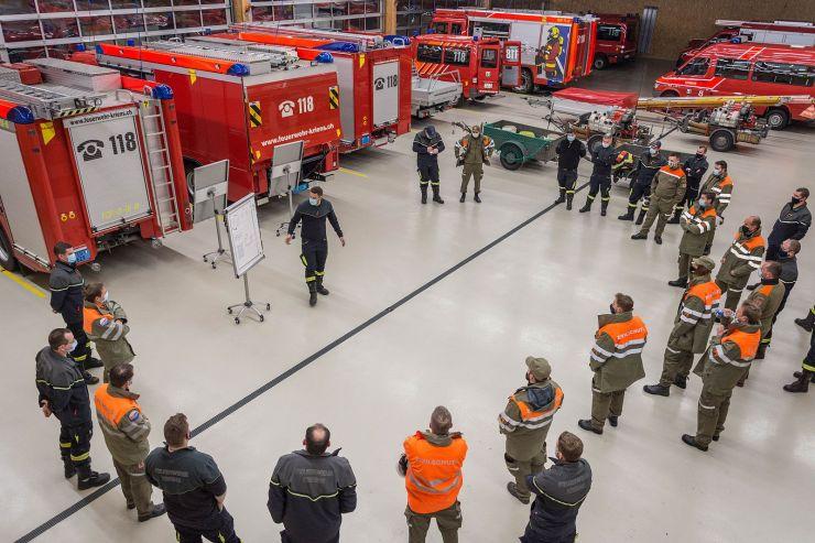 Ein Testlauf mit der Feuerwehr Kriens