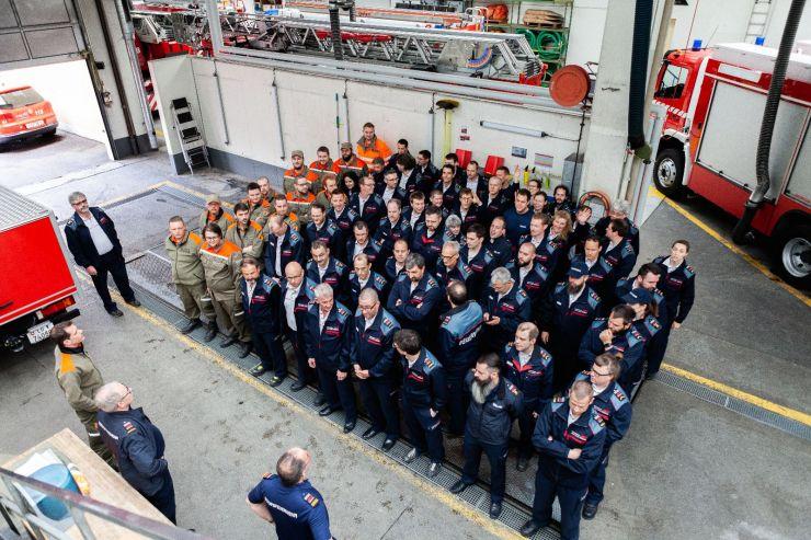 Kulturgüterschutz und Cobra mit der Feuerwehr Stadt Luzern
